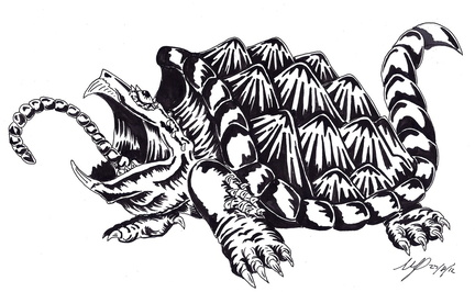 Alligator snapping turtle ink