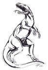 Komodo lizard warrior ink