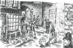 London gazetter street scene Tripe Ace Games
