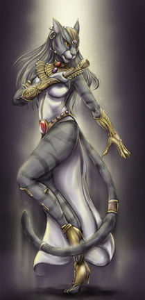 Set Rising Bastet dancer colour work Jenna Fowler